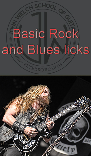 rock and blues licks